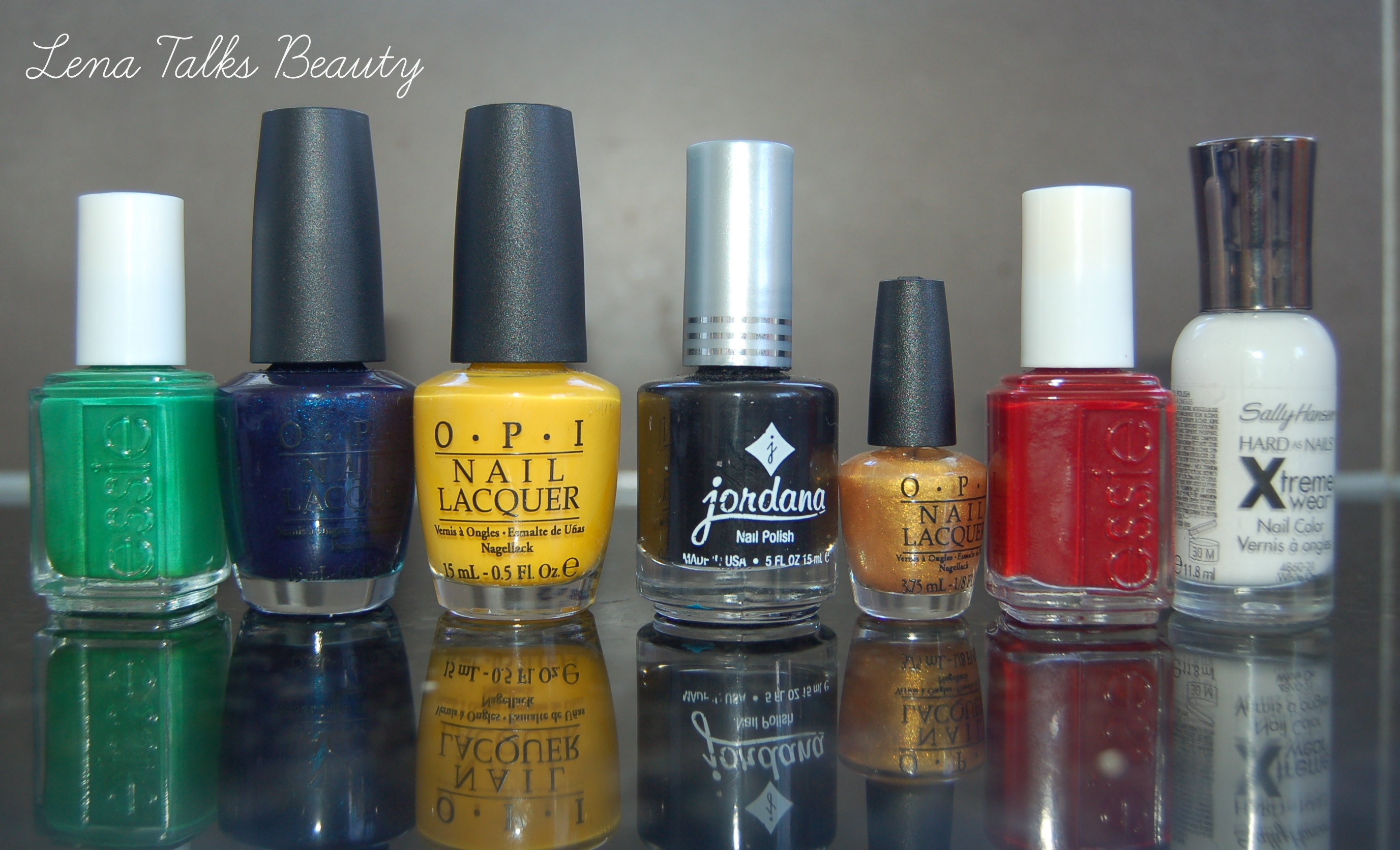 OPI, Essie, Jordana, Sally Hansen polishes